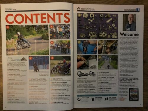 Classic Bike magazine; motorcycle magazines; Number 384 to Present Jan 2012