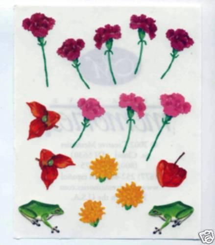 CREATIVE MEMORIES SPRING FLOWERS #3 BLOCK STICKER SHEET