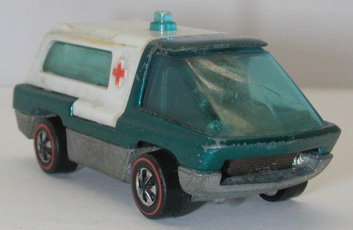 Redline Hotwheels Aqua 1970 Ambulance