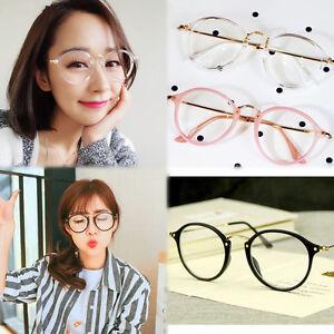 Damen Herren Unisex Retro Klassische Nerd Runden Brille Linse Klarglas U0U0 B1Z0