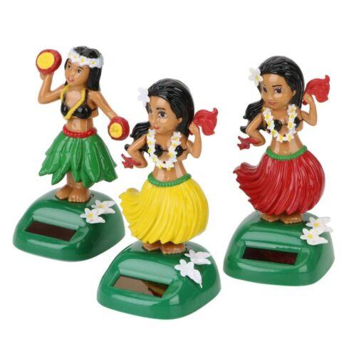 Solar Power Shaking Head Toy Car Ornaments Hawaii Girl Hula Decompression Dolls    eBay