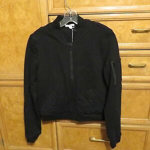 Women-039-s-Standard-James-Perse-black-full-zip-coat-sweatshirt-top-sz-3-NWT-295