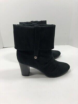 Black Scrunchy Ankle Boots Size 6.5M