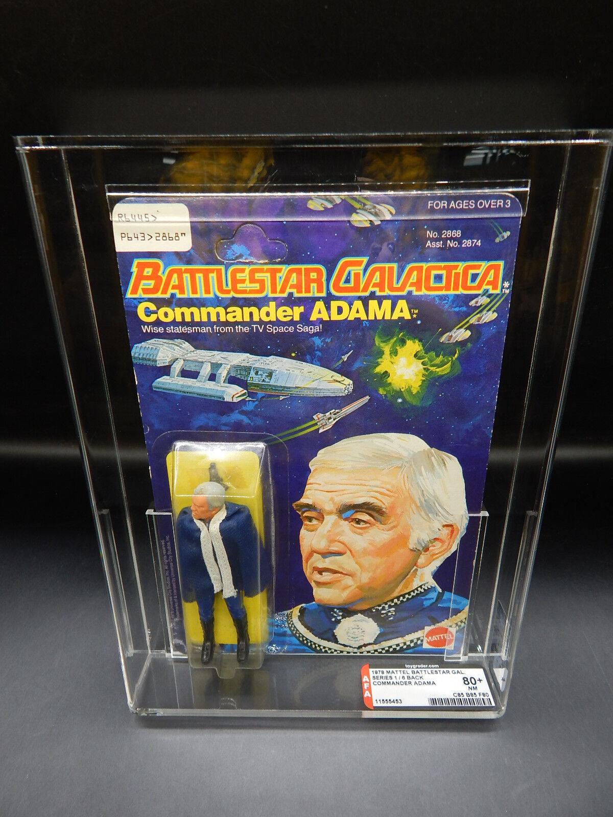 AFA 80+ Mattel Battlestar Galactica COMMANDER ADAMA figure 1978 MOC sealed toy