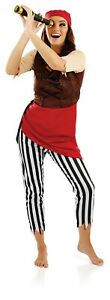 Womens-Pirate-First-Mate-Fancy-Dress-S-XL-Ladies-Buccaneer-Wench-Lady-Costume