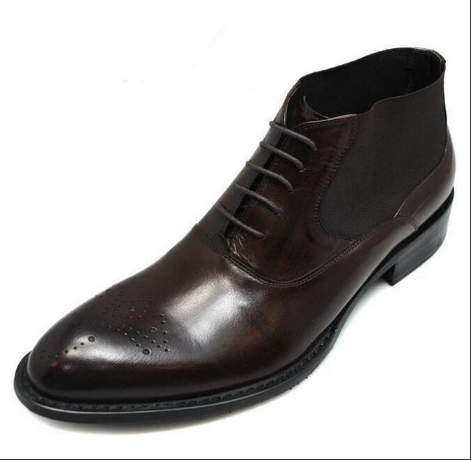 Homme Richelieu à sculpté Chukka Chaussures De Loisirs Robe Formel Business Bottines en cuir