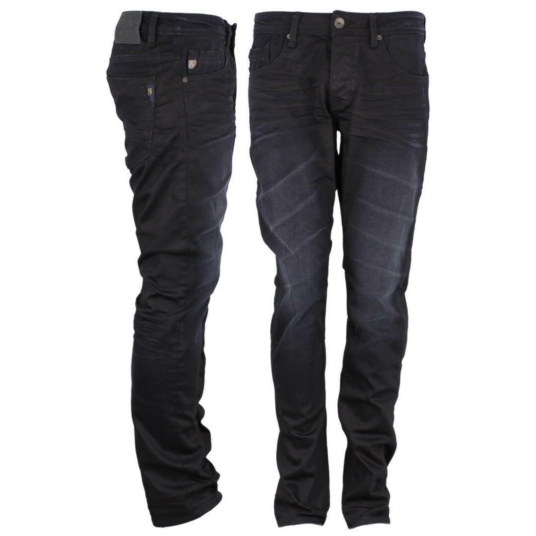 Garcia Jeans Trousers Slim Fit Indigo Dark bluee Stone Washed Savio 630 1750
