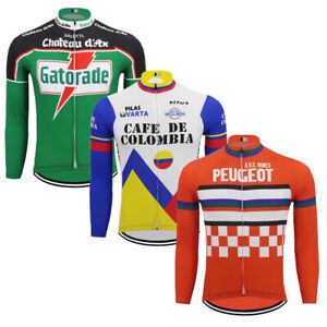 abb148bb1c6 Image is loading Popular-Retro-cycling-Jersey-Pro-Clothing-Long-Sleeve-