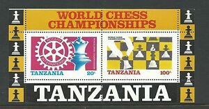 1986-World-Chess-Championships-Rotary-International-Mini-Sheet-MUH-MNH