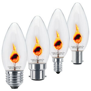 3-W-Flicker-Flame-Candle-Light-Bulbs-Occasion-Speciale-Lampes-B22-B15-E14-E27