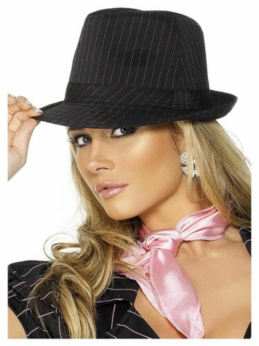 FEBBRE NUOVO NERO GANGSTER BORSALINO cappello-anni venti Noir 1920s Costume Accessorio