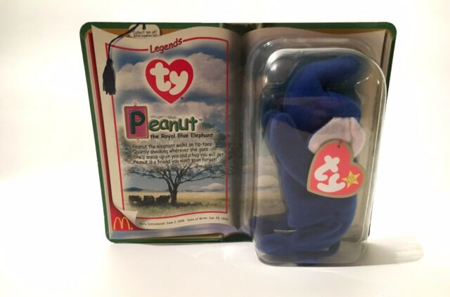 Peanut The Royal Blue Elephant Ty Tennie Beanie Baby for sale online ... 6f84ecb91474