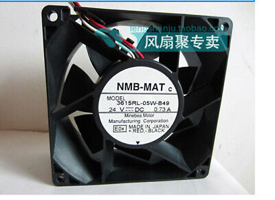 1pc NMB-MAT 3615RL-05W-B40 Inverter fan 24V 0.73A 2pin  90*38mm #XX
