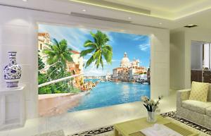 3D Green Sea City 26 Wall Paper Wall Print Decal Wall AJ WALLPAPER CA