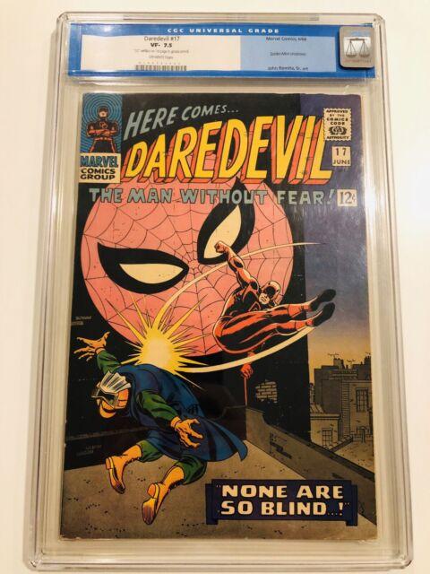 Daredevil #17 (1966) - Spider-man Crossover! - CGC 7.5 - John Romita!