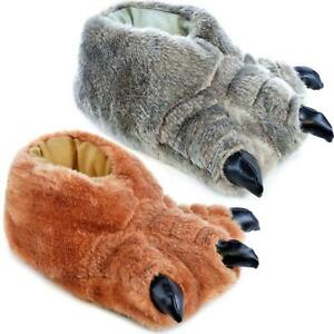 Kids-Slippers-Boys-Girls-Novelty-Bear-Claw-Slippers-Winter-Warm-Shoes-Size
