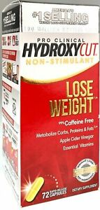 Hydroxycut Pro Clinical Non-Stimulant Weight Loss Supplements with Apple Cider V