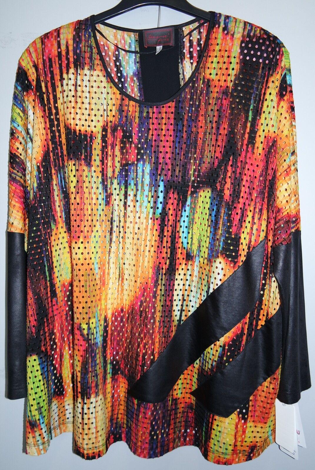 Tunika Netz Transpa. bunt Gr.54 Marke Sempre Piu by Chalou Polyester 30%