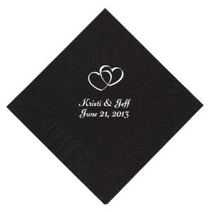 Personalized Wedding, Baby Shower Cocktail Beverage Napkins - DESIGN YOUR OWN