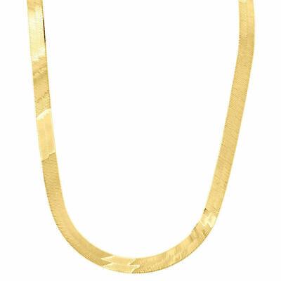10k Gelbgold Massive Halskette Seidig Fischgräten 6mm Kette 16 - 24 Cm Neu Gesundheit FöRdern Und Krankheiten Heilen