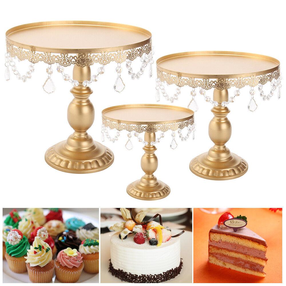 8  10  12  fête de mariage gateau Stand Avec Cristaux Cupcake Display Plaques Support