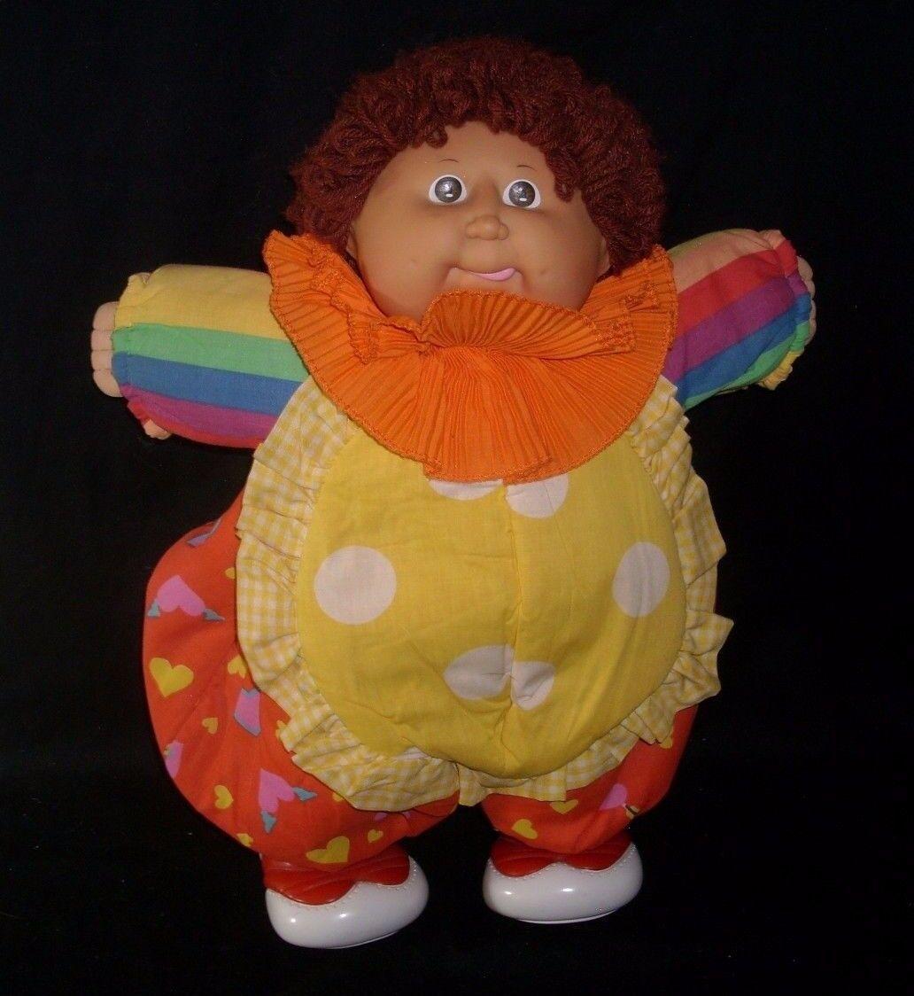 Vintage 1985 Coleco Pagliaccio Circo Cavolo Toppa Bambini Peluche Bambola di B