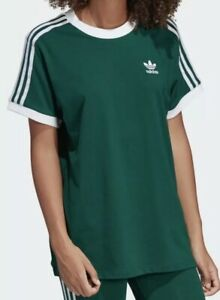 adidas 3 stripes t shirt women's