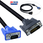 24+5 DVI-I Dual Link Male to VGA Cable Cord Male Video Monitor Adapter PC 6FT