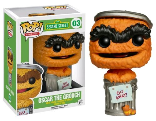 "EXCLUSIVE SESAME STREET ORANGE OSCAR THE GROUCH 3.75/"" VINYL FIGURE POP NEW FUNKO"