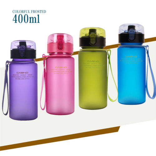 400 ml BPA free étanche Outdoor Sports Bouteille D/'Eau Tour Randonnée Camping Bouteille