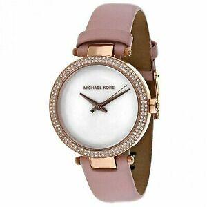 d7c5e6dc6dc4 Michael Kors Women Mini Parker Ballet Pink Leather Strap Watch 33mm MK2590