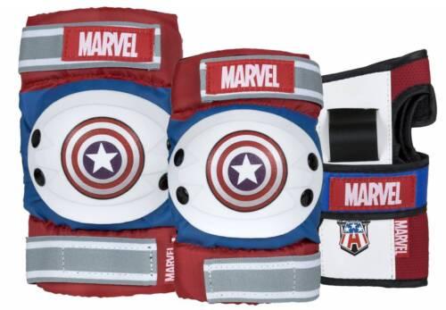 Powerslide Marvel Captain America Schützer Schoner Tri-Pack 3er-Set NEU 92329