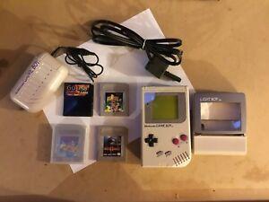 Original Nintendo Game Boy + Accessories, 3 Games and A GB USB SMART CARD 64M