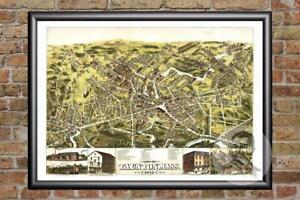 Vintage-Taunton-MA-Map-1875-Historic-Massachusetts-Art-Victorian-Industrial