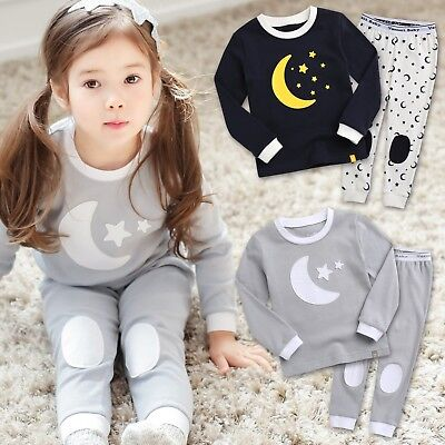 "Fast Deliver Vaenait Baby Toddler Kids Boys Girls Clothes Pajama Set ""good Night"" 12m-7t"