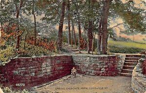 LOUISVILLE-KENTUCKY-SPRING-IN-CHEROKEE-PARK-1911-PSMK-POSTCARD