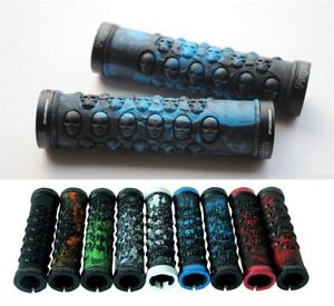 Propalm rubber Skull Handlebar Lock-on Grip MTB XC DH AM Fixie bike Grips Green