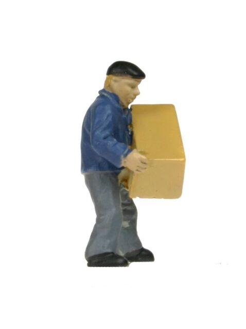 """Makette 2518-B: Figur """"Mann mit großer Holzkiste"""" (H0) handbemalt!"""