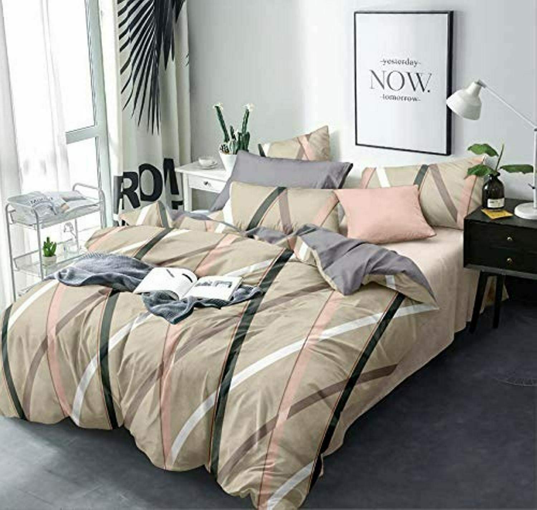 Mehrfarbig Mikro Faser AC Decke Bettdecken Doppelbett Steppdecke Set Mit 4 Teile