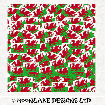 Welsh Flags Exclusive * Tossed Pattern 100/% Quality Cotton Poplin Fabric