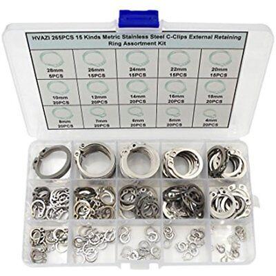7mm Nut /& Bolt 26mm Steel Circlip Retaining Ring Snap Ring Assortment Kit