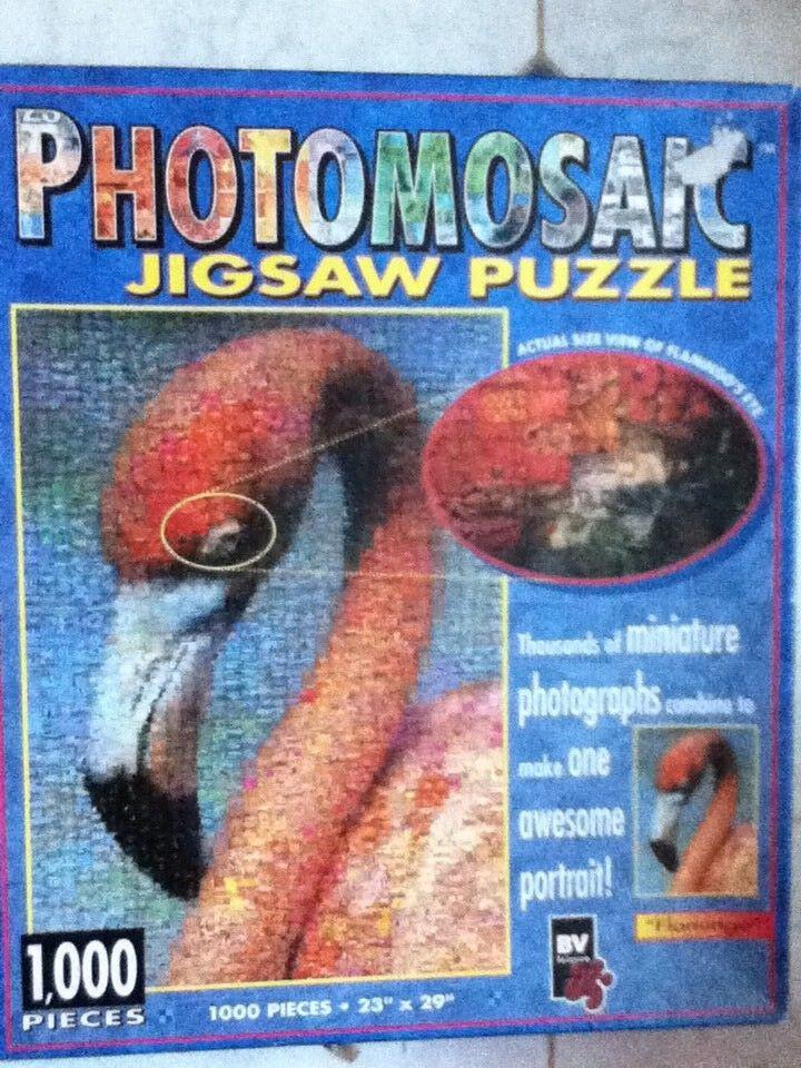 ** photomosaic FLAMINGO puzzle 1000 PEZZI **