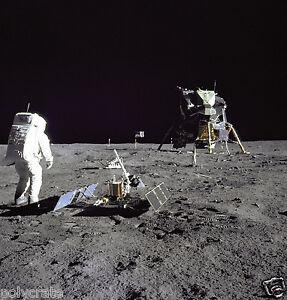 Utile Poster Photo Nasa - Apollo 11 La Lune - Buzz Aldrin Module Lunaire Eagle - 1969