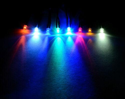 12V Ultra Bright 3mm 5mm 10mm Prewired LED with Black Bezel Holder All Colours
