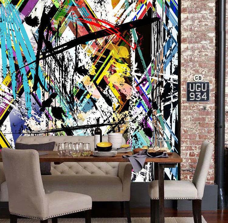 3D Farbe Gekritzel 6 Tapete Tapeten Mauer Foto Familie Tapete Wandgemälde Summer