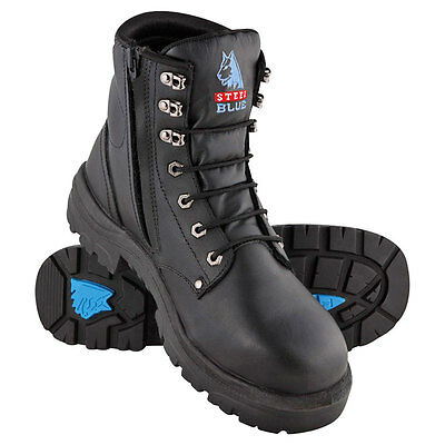 Steel Blue Argyle Zip Safety Boot - Steel Toecap TPU Outsole - 312152