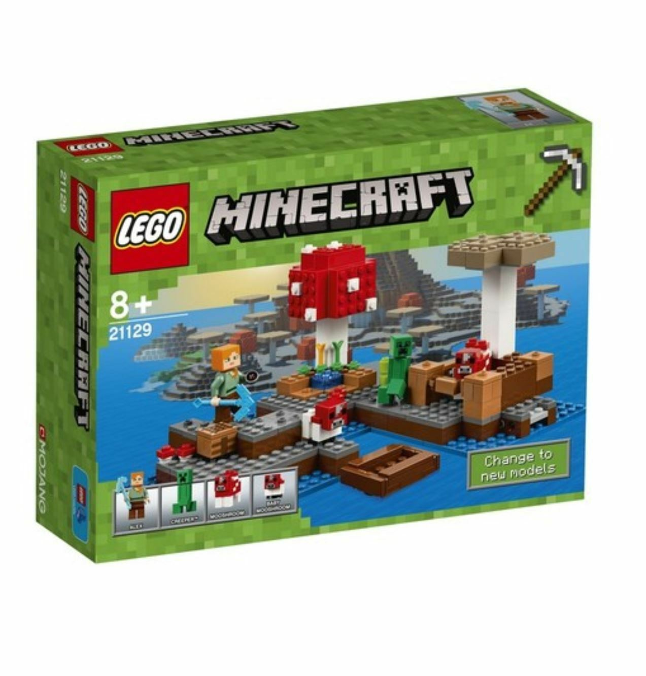 Minecraft™ The Mushroom Island 21129 2016 Version Free Shipping