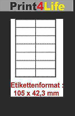 1400 ETIKETTEN 105 X 42,3 MM WEISS KOMPATIBEL AVERY ZWECKFORM 3653