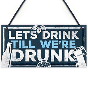 Image Is Loading Novelty Home Bar Signs Funny Friendship Alcohol Gift