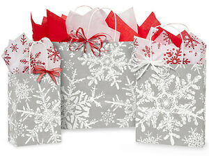 125 Winter Christmas Snowflakes Silver Holiday Paper